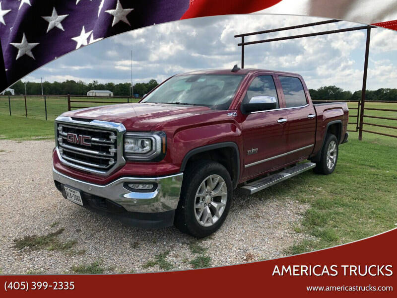 2018 GMC Sierra 1500 for sale at Americas Trucks in Jones OK