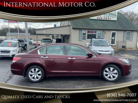 2009 Honda Accord for sale at International Motor Co. in St. Charles MO