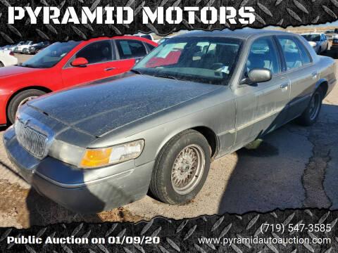 2000 Mercury Grand Marquis for sale at PYRAMID MOTORS - Pueblo Lot in Pueblo CO