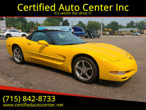 2004 Chevrolet Corvette for sale at Certified Auto Center Inc in Wausau WI