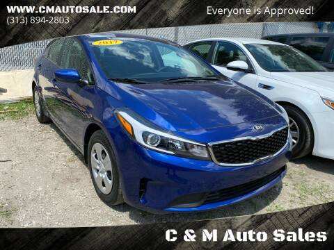 2017 Kia Forte for sale at C & M Auto Sales in Detroit MI