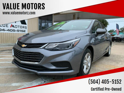 2018 Chevrolet Cruze for sale at VALUE MOTORS in Kenner LA