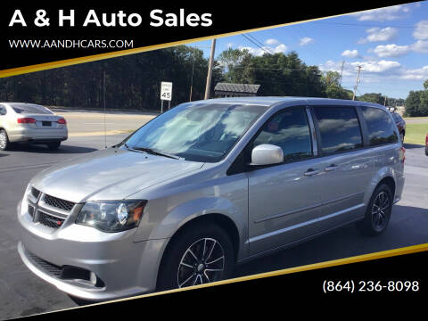 2016 Dodge Grand Caravan for sale at A & H Auto Sales in Greenville SC
