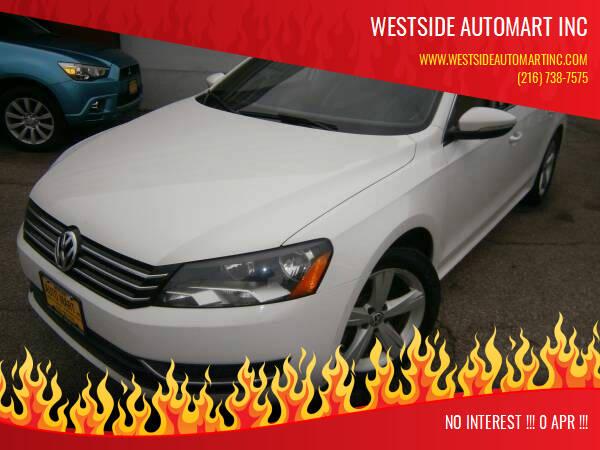 2012 Volkswagen Passat for sale at WESTSIDE AUTOMART INC in Cleveland OH
