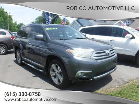 2013 Toyota Highlander for sale at Rob Co Automotive LLC in Springfield TN