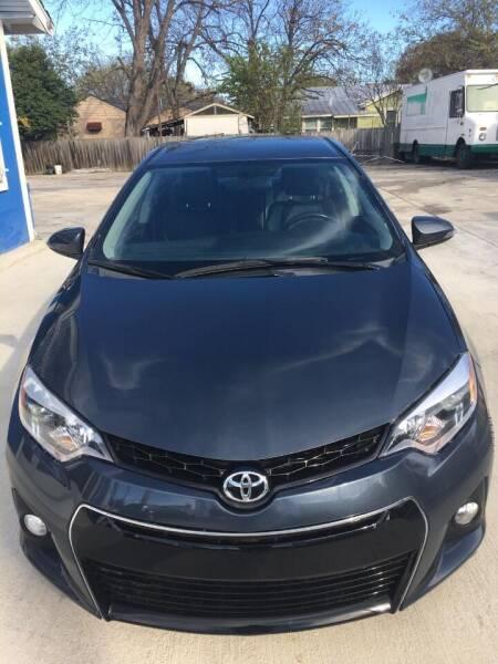 2016 Toyota Corolla for sale at Progressive Auto Plex in San Antonio TX