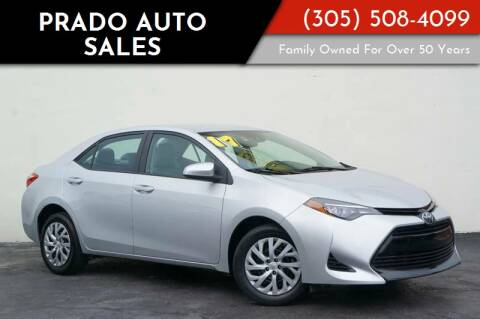 2017 Toyota Corolla for sale at Prado Auto Sales in Miami FL