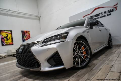2016 Lexus GS F for sale at AUTO IMPORTS MIAMI in Fort Lauderdale FL