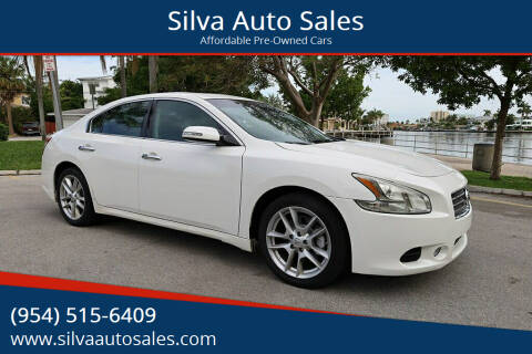 2011 Nissan Maxima for sale at Silva Auto Sales in Pompano Beach FL