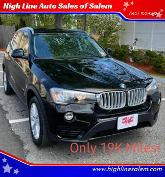 2016 BMW X3 for sale at High Line Auto Sales of Salem in Salem NH