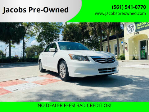 2012 Honda Accord for sale at Jacobs Pre-Owned in Lake Worth FL