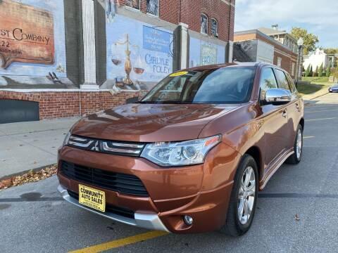 2014 Mitsubishi Outlander for sale at Community Auto Sales & Service in Fayette MO