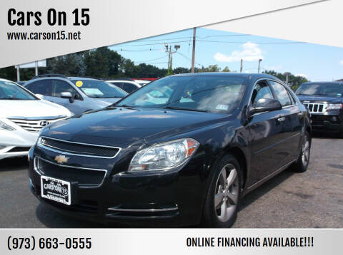 2012 Chevrolet Malibu for sale at Cars On 15 in Lake Hopatcong NJ