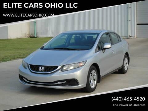 2013 Honda Civic for sale at ELITE CARS OHIO LLC in Solon OH