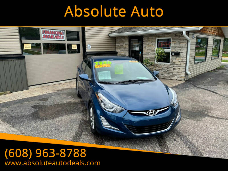 2014 Hyundai Elantra for sale at Absolute Auto in Baraboo WI