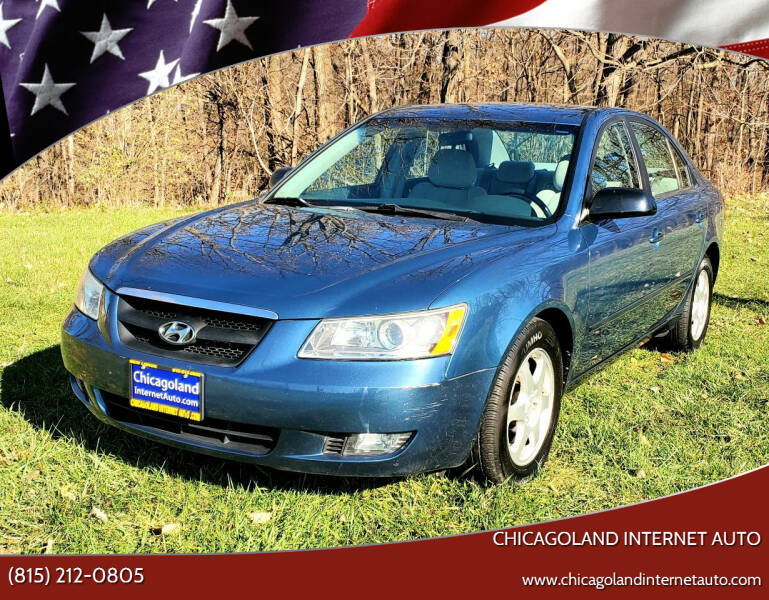 2006 Hyundai Sonata for sale at Chicagoland Internet Auto - 410 N Vine St New Lenox IL, 60451 in New Lenox IL