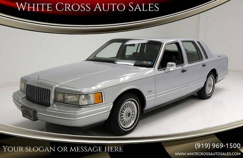 1993 Lincoln Town Car for sale at White Cross Auto Sales in Chapel Hill NC