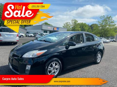 2011 Toyota Prius for sale at Carpro Auto Sales in Chesapeake VA