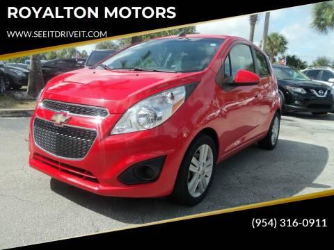 2015 Chevrolet Spark for sale at ROYALTON MOTORS in Plantation FL