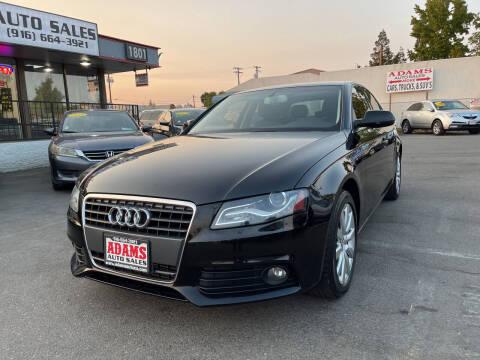 2011 Audi A4 for sale at Adams Auto Sales in Sacramento CA