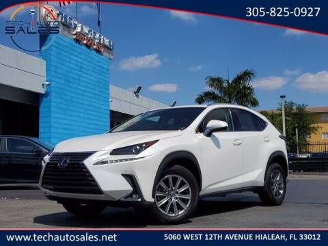 2018 Lexus NX 300 for sale at Tech Auto Sales in Hialeah FL