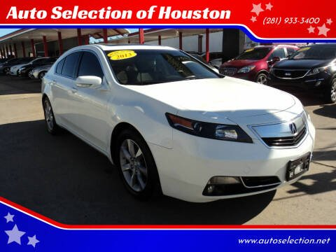 2013 Acura TL for sale at Auto Selection of Houston in Houston TX