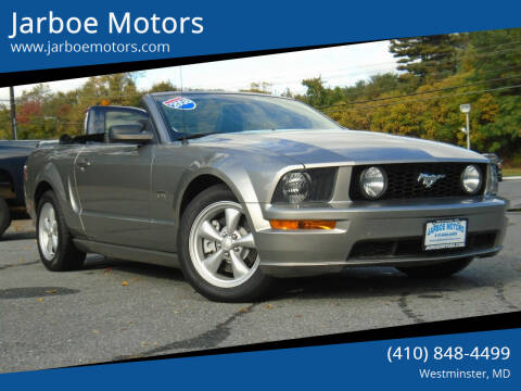 2008 Ford Mustang for sale at Jarboe Motors in Westminster MD