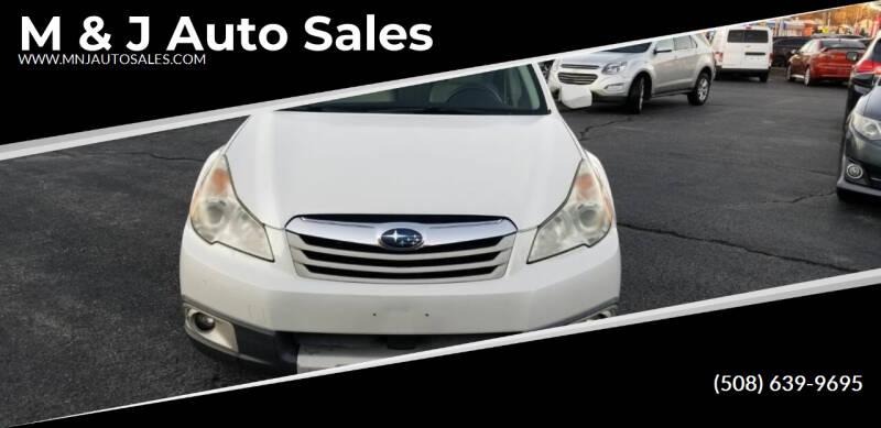 2011 Subaru Outback for sale at M & J Auto Sales in Attleboro MA