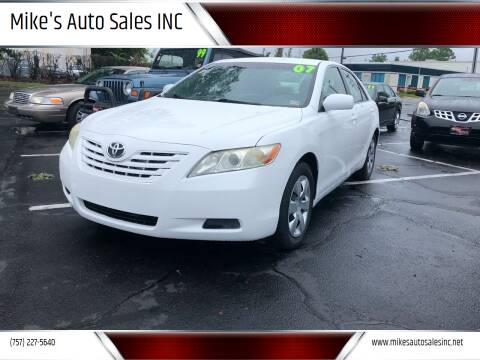2007 Toyota Camry for sale at Mike's Auto Sales INC in Chesapeake VA