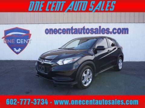 2016 Honda HR-V for sale at One Cent Auto Sales in Glendale AZ