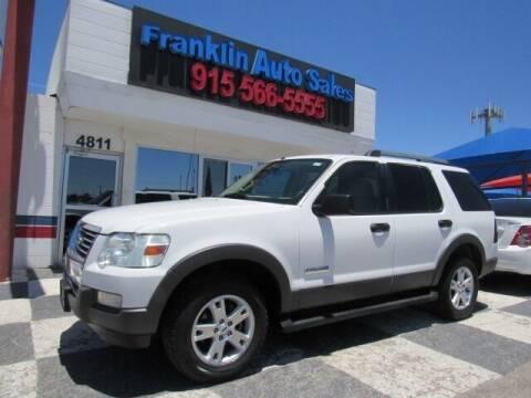 2006 Ford Explorer for sale at Franklin Auto Sales in El Paso TX