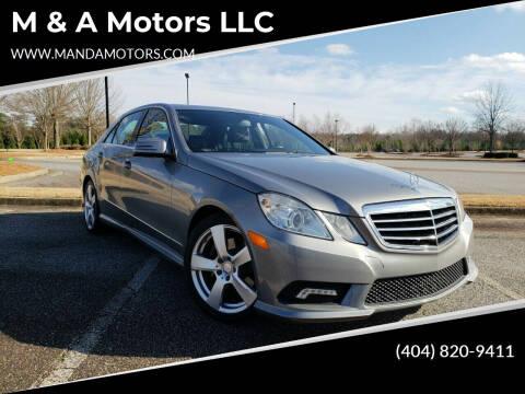 2011 Mercedes-Benz E-Class for sale at M & A Motors LLC in Marietta GA