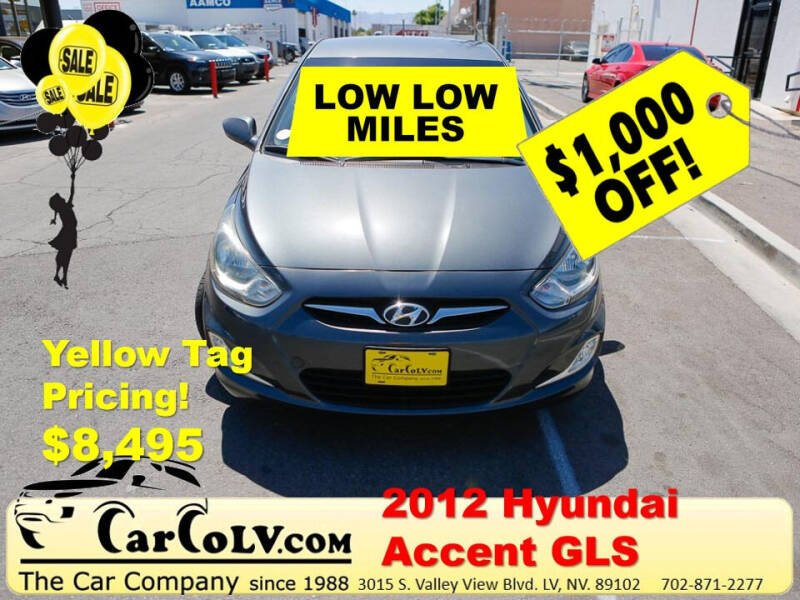 2012 Hyundai Accent for sale at The Car Company in Las Vegas NV
