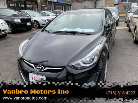 2016 Hyundai Elantra for sale at Vanbro Motors Inc in Staten Island NY