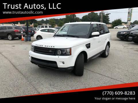 2012 Land Rover Range Rover Sport for sale at Trust Autos, LLC in Decatur GA