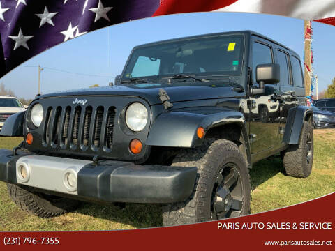 2012 Jeep Wrangler Unlimited for sale at Paris Auto Sales & Service in Big Rapids MI