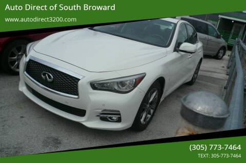 2015 Infiniti Q50 for sale at Auto Direct of South Broward in Miramar FL