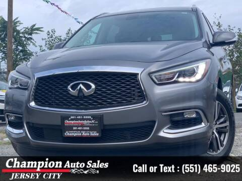2018 Infiniti QX60 for sale at CHAMPION AUTO SALES OF JERSEY CITY in Jersey City NJ