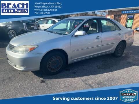 2004 Toyota Camry for sale at Beach Auto Sales in Virginia Beach VA