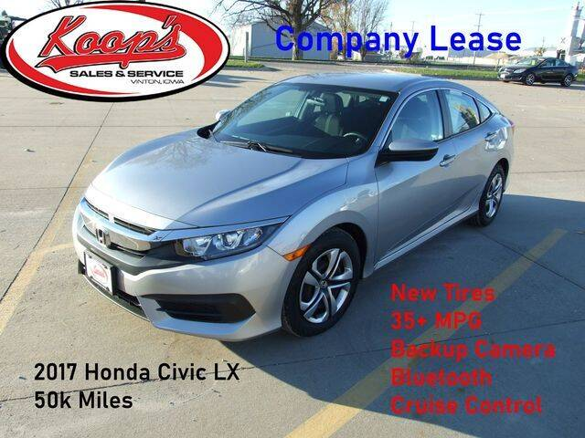 2017 Honda Civic for sale at Koop's Sales and Service in Vinton IA