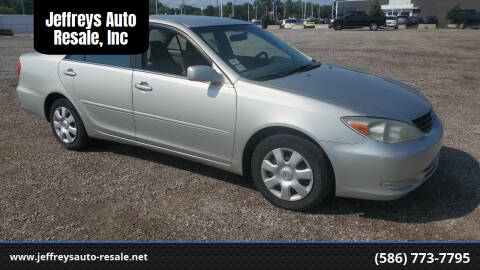 2003 Toyota Camry for sale at Jeffreys Auto Resale, Inc in Clinton Township MI