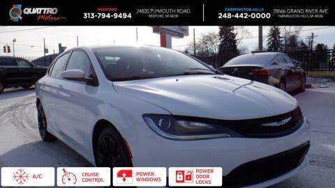 2015 Chrysler 200 for sale at Quattro Motors 2 in Farmington Hills MI