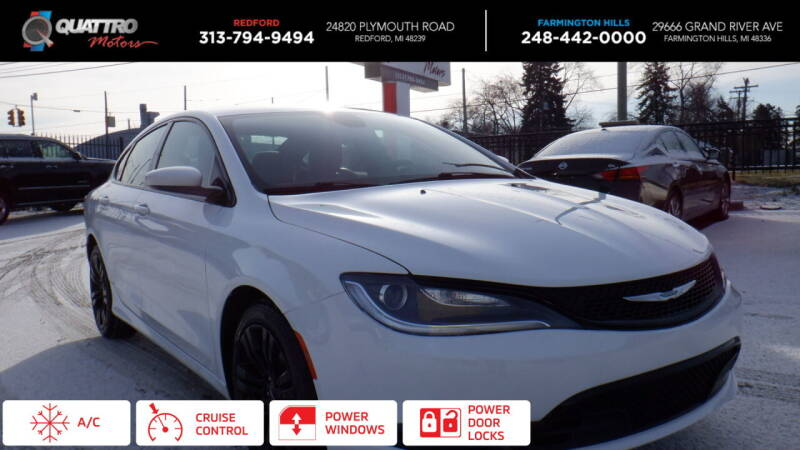 2015 Chrysler 200 for sale at Quattro Motors 2 in Farmington Hills MI