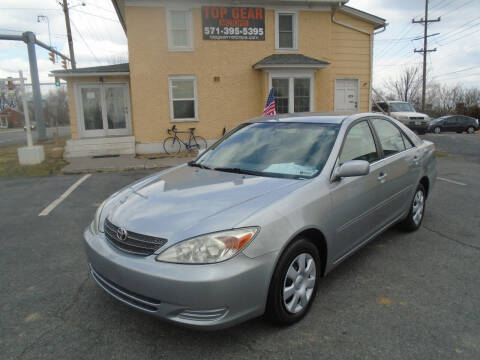 2002 Toyota Camry for sale at Top Gear Motors in Winchester VA