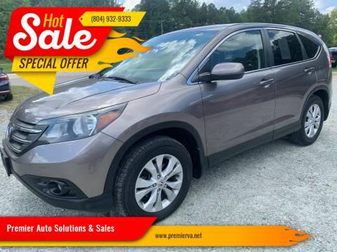2013 Honda CR-V for sale at Premier Auto Solutions & Sales in Quinton VA