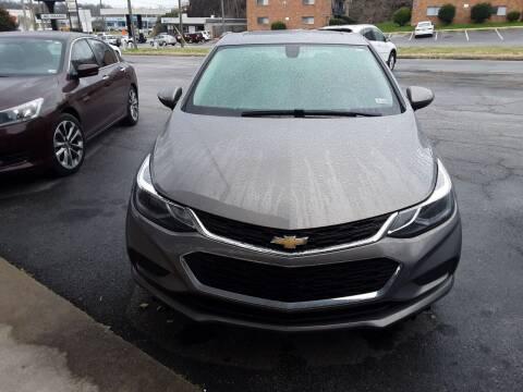 2018 Chevrolet Cruze for sale at Auto Villa in Danville VA
