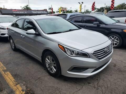 2016 Hyundai Sonata for sale at America Auto Wholesale Inc in Miami FL