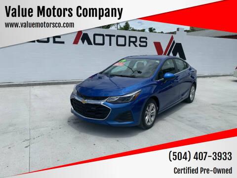 2019 Chevrolet Cruze for sale at Value Motors Company in Marrero LA