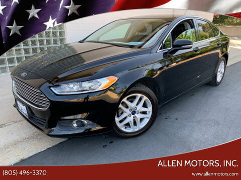2016 Ford Fusion for sale at Allen Motors, Inc. in Thousand Oaks CA