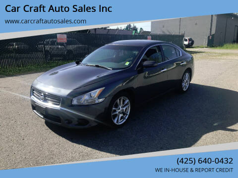 2013 Nissan Maxima for sale at Car Craft Auto Sales Inc in Lynnwood WA